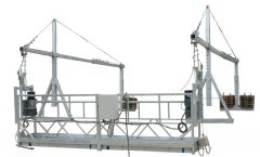 Moveable Safety Rope Suspendido Platform ZLP500 Sa Rated Kapasidad 500KG